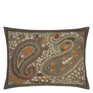 A Nyhet Designers Guild Kudde Uchiwa Ochre Cushion 60 x 45cm CCDG0921 (2-PACK) - 2-pack Kuddar med rabatt
