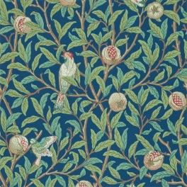 William Morris COMPILATON WALLPAPER Tapet BIRD & POMEGRANATE (i fyra Färgställningar)