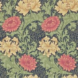 William Morris COMPILATON WALLPAPER Tapet CHRYSANTHEMUM 216854 (i tre Färgställningar)