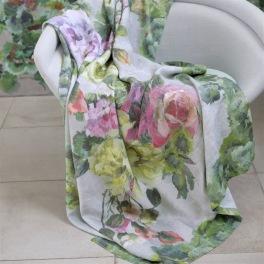 A Nyhet Designers Guild Pläd GRANDIFLORA ROSE EPICE 130x180cm digitaltrykt på linne BLDG0224 (2-Pack) Kampanj 25% rabatt på hela köpet över 5000 kr (gäller ej rea och tyger) KOD. GTGYTKXL