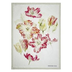 A Nyhet Designers Guild Pläd Spring Tulip Buttermilk Throw 130x180cm digitaltrykt på linne BLDG0208 (1-Pack) Kampanj 25% rabatt på hela köpet över 5000 kr (gäller ej rea och tyger) KOD. GTGYTKXL - Per st