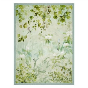 A Nyhet Designers Guild Pläd Maple Tree Celadon Throw 130x180cm digitaltrykt på linne BLDG0207 (1-Pack) Kampanj 25% rabatt på hela köpet över 5000 kr (gäller ej rea och tyger) KOD. GTGYTKXL - Per st