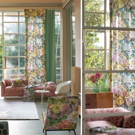 A. Nyhet Designers Guild Tygkollektion GRANDIFLORA ROSE FABRICS
