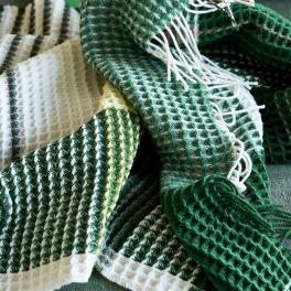 A Nyhet Designers Guild Pläd FLORENTIN EMERALD 130X190 cm 40%Merino Wool, 40%Cotton 20%Polyester Vävd i våffeleffekt BLDG0219 (2-Pack) Kampanj 25% rabatt på hela köpet över 5000 kr (gäller ej rea och tyger) KOD. GTGYTKXL