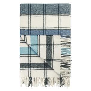 Designers Guild Pläd Bayswater Teal Throw 130 x 190 cm  20%Wool, 50Arylic, 30%Polyester BLDG0223 (1-Pack) Kampanj 25% rabatt på hela köpet över 5000 kr (gäller ej rea och tyger) KOD. GTGYTKXL