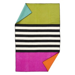 Klippans Yllefabrik Ullfilt Blanket for life art.2275-01 Thin stripe 130x180 cm 100% lammull