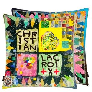 Christian Lacroix Kudde ARLECCHINO WOOD MULTICOLORE50x50 cm CCCL0603 (1-PACK) Kampanj 25% rabatt på hela köpet över 5000 kr (gäller ej rea och tyger) KOD. GTGYTKXL - Kudde per st