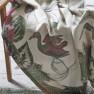 John Derian Pläd BIRDS OF A FEATHER PARCHMENT (digitaltryckt på linne) BLJD5004 (2-Pack) Kampanj 25% rabatt på hela köpet över 5000 kr (gäller ej rea och tyger) KOD. GTGYTKXL