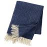 Klippans Yllefabrik Ullpläd Premium Himalaya 130 x 180cm. 50% kashmir & 50% merinoull (extra mjuka ) - 2081- 03 Sea blue
