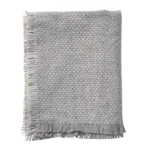 Klippans Yllefabrik Ullpläd Brick 130 x 180cm. 100% lammull. - 1-pack 2173-01 Grey