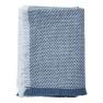 Klippans Yllefabrik Ullpläd Brick 130 x 180cm. 100% lammull. - 1-pack 2173-02 Blue