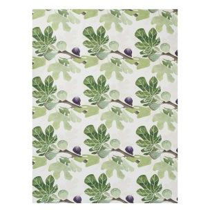 Klippans Yllefabrik Tyg Figs 100% Bomull. Tryckt Tyg/Printed Fabric width 153cm (säljes om 10 meter per rulle)