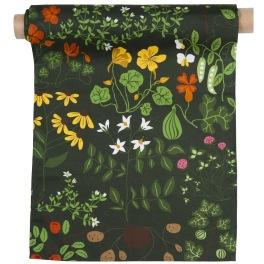 Klippans Yllefabrik Tyg Leksand 100% bomull Tryck tyg / printed fabric, width 150cm. (säljes om 10 meter per rulle)