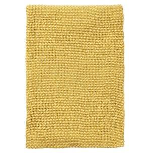 Klippans Yllefabrik Basket 130 x 180 cm. 100 % organisk bomull - 1-pack 2704-01 Yellow