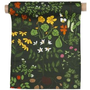 Klippans Yllefabrik Tyg Leksand 100% bomull Tryck tyg / printed fabric, width 150cm. (säljes om 10 meter per rulle) - 10 meter per rulle tyg Leksand3900-66 Green