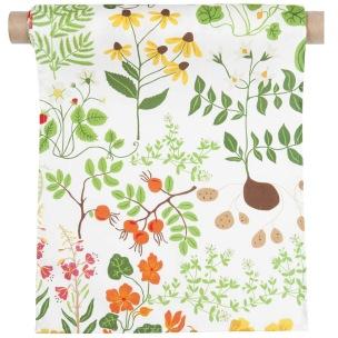 Klippans Yllefabrik Tyg Leksand 100% bomull Tryck tyg / printed fabric, width 150cm. (säljes om 10 meter per rulle) - 10 meter per rulle tyg Leksand3900-67 White