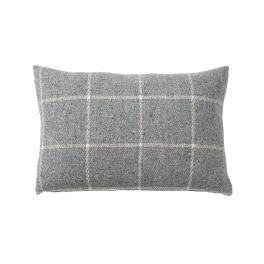 Klippans Yllefabrik VingaKuddfodral 60 x 40cm. 100% lammull 2735-01 Light grey