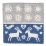 Klippans Yllefabrik Sittunderlag Lappland 100% lammull. 43 x 43 cm - 1-pack blå