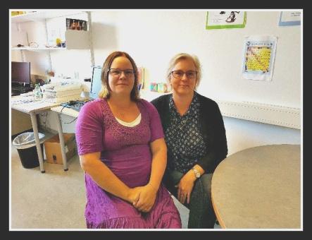 Linda Hellsén och Veronica Larsson, speciallärare på Bergsåkers skola.