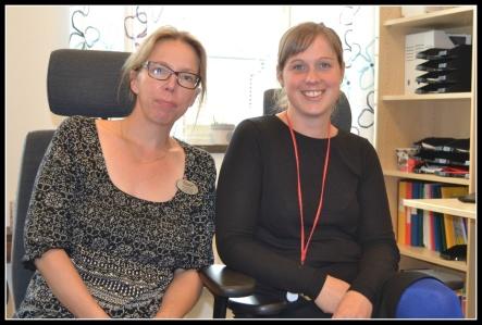 Anna Almroth och Therés Forsén, specialpedagoger på Bergsåkers skola.
