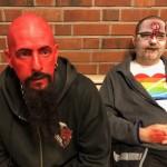 Två läskiga typer som gick omkring på skolan...