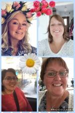 Här jobbar vi :)  Teresia, Nina, Susanne och Malin
