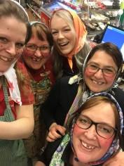 Här jobbar vi :)  Therese, Malin, Teresia, Susanne och Nina.