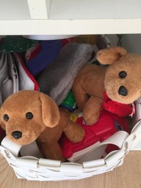 Leksaker finns.