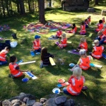 "Land art projekt ""Kultur i Uterum"" - 3 dagars utomhus workshop totalt 300 st 5-åringar, Borås"