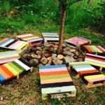 Skapande skola projekt, Grundsärskolan, Osby - Skapa ett platsspecifikt naturlärorum, en plats i uterummet, skapad av naturmaterial på tema kretslopp, miljö, återbruk, träd. Med elever i grundsärklass