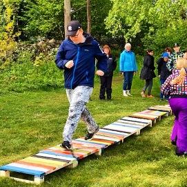 Land art projekt, Skapande skola projekt med grundsärskoleelever, Osby