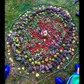 """Land Art Projekt """"Cirkel"""" med alla 5 åringar i Klippans kommungenom Kulturgarantin"""