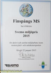 Svemos miljöpris 2015