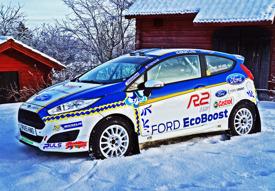 2017 års bildesign på R2t EcoBoost-Fiestan