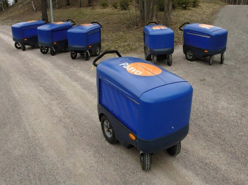 Prototyp av postvagn till Itella