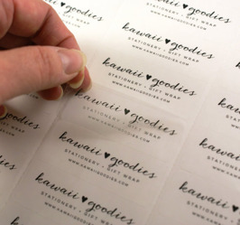 Genomskinliga etiketter