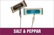 Salt & Peppar, Saltpåsar, Pepparpåsar, Salt med logo, Peppar med logo, Portionspåsar, pepparpåsar med eget tryck, saltpåsar med eget tryck, sachets, Salt i papper, Peppar i papper