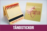 Logo tryckta tändsticksaskar, kundprofilerade tandpetare förpackningar, vi trycker på tändstickor, förpackningar med logotryck, företags grafiska profil, inredning, säsong, färger, med tryck, tändsticksförpackningar,