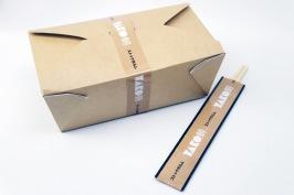 Non-leak bruna take away boxar är lämplig för både varm och kall mat. Med eget tryck