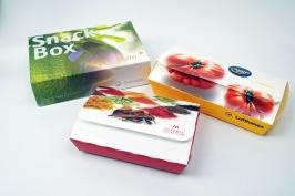 Snacksboxar med eget tryck