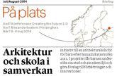 Tidskriften Arkitekten 6-7 2014