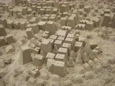 Sand City från en utställning på Arkitekturmuseet