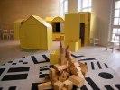 Ateljén med byggklossar och små hus