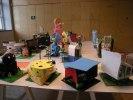 Modeller byggda av skolbarn på studiebesök