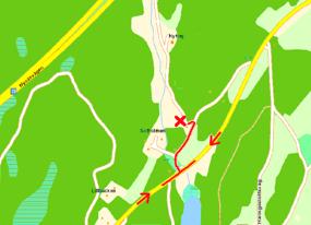 Redigerad karta från hitta.se