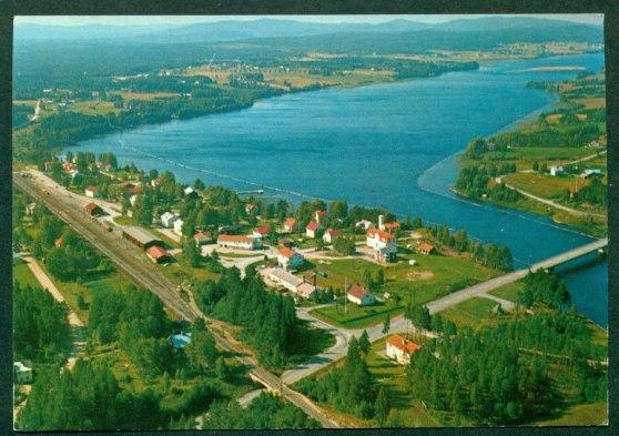 Flygfoto Helgumsjön ca 1970