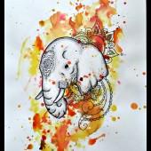 bläck elefant - såld