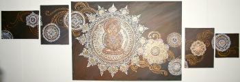 henna mandala i 4 delar 5000:-