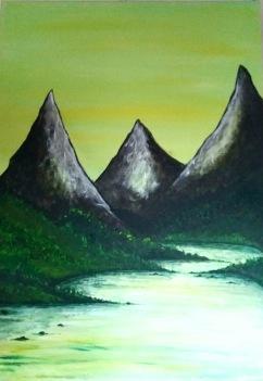 Norska berg 65x90cm 2000:-