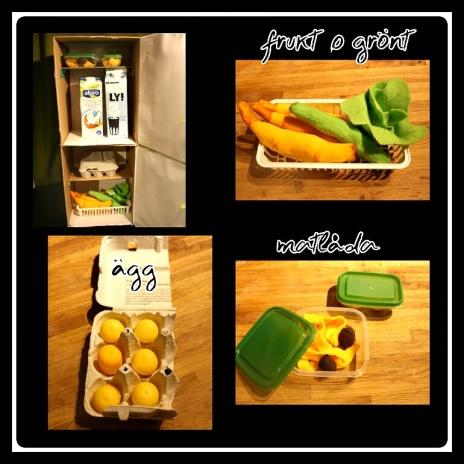 kylskåp i detalj